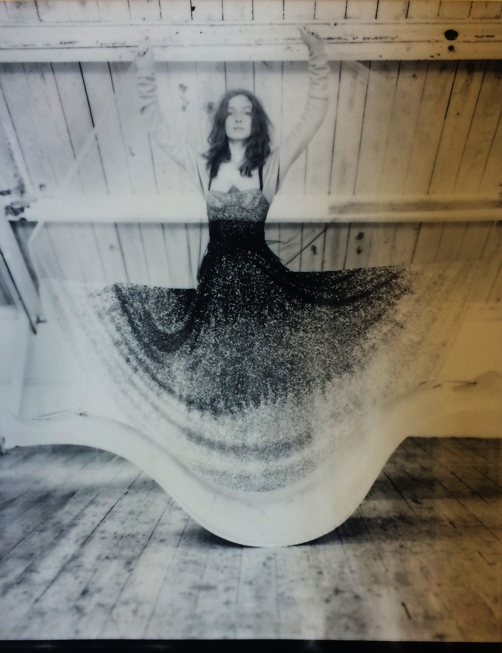 Sequin and tulle dress- Dior, Knitted onsie (worn underneath) Andreas Kronthaler for Vivienne Westwood