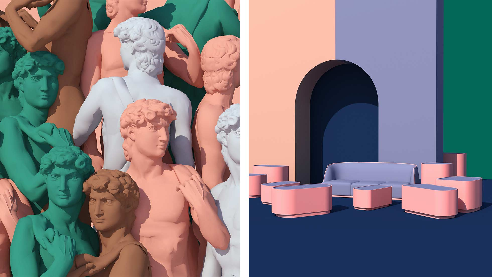 Blending surrealism with classical sculpture