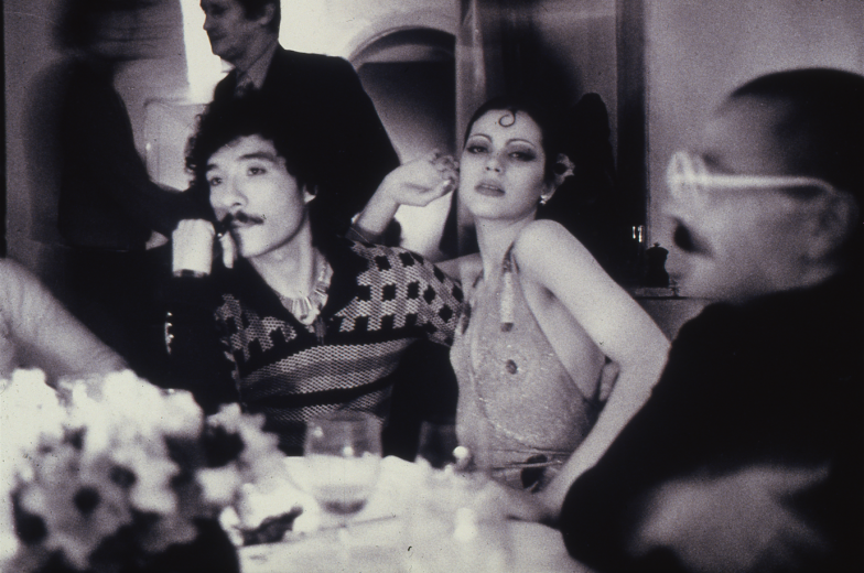 Antonio Lopez, Coraly Betancourt and Alex de IIanos, Club Sept, Paris, 1973. CREDIT: © Copyright The Estate of Antonio Lopez and Juan Ramos, 2012. From Antonio Lopez 1970: Sex Fashion & Disco directed by James Crump. Used by permission.