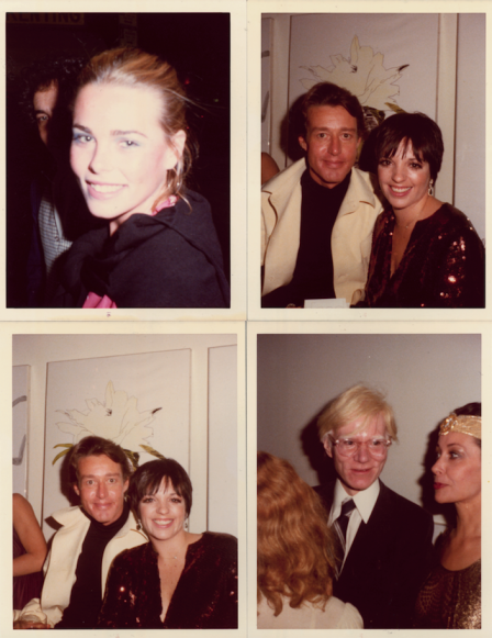 Margaux Hemmingway, Andy Warhol, Liza Minelli, Halston and Ultra Violet, New York, 1977. CREDIT: Photograph by Antonio Lopez. © Copyright The Estate of Antonio Lopez and Juan Ramos, 2012. From Antonio Lopez 1970: Sex Fashion & Disco directed by James Crump. Used by permission.