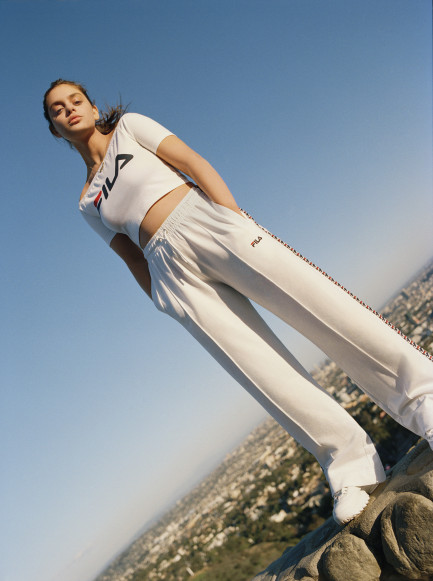 Odeya Rush for Urban Outfitters x FILA, photographed by Nick Dorey
