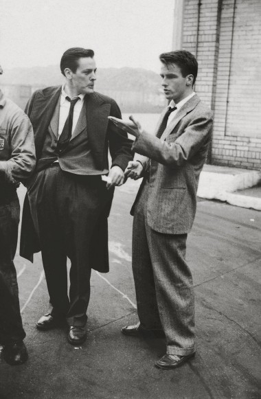 """Stanley Kubrick, Montgomery Clift with fellow actor Kevin McCarthy from """"Montgomery Clift: Glamour Boy in Baggy Pants,"""" 1949"""