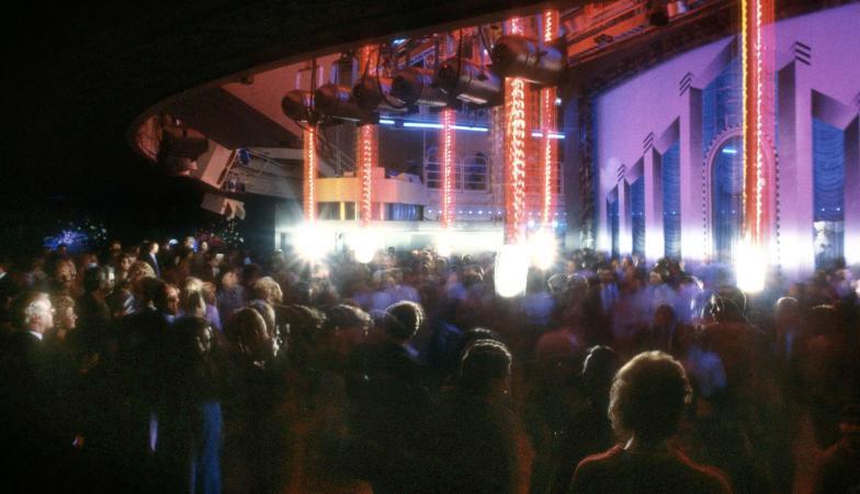 Dancefloor and lights at Studio 54. Photographer: Adam Scull.