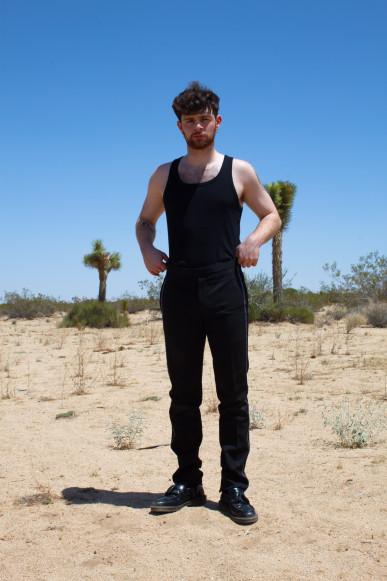 SS 18 black trousers / Christian Dior // Original Adrian Tassel loafer / Dr Martens